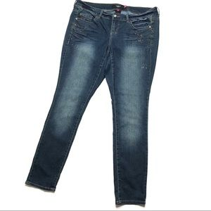 Torrid Rhinestone Skinny Jeans